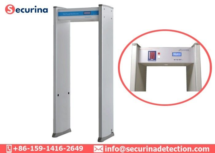 China Airport Multi Zone Door Frame Metal Detector High Accuracy Anti Interference factory
