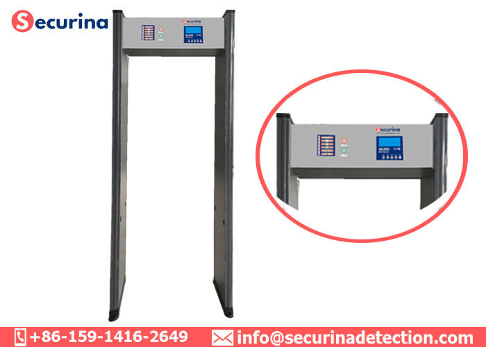 China 0-299 Sensitivity Level Walk Through Safety Gate 6 Detecting Detection For Hotel Security factory