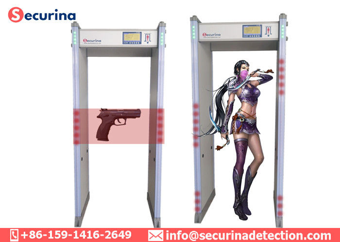 Shock Proof Airport Security Detector 45 Zones For Exhibition / Railway Station