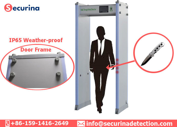Door Frame Metal Detector , Security Walk Through Gate 45 Detecting Zones