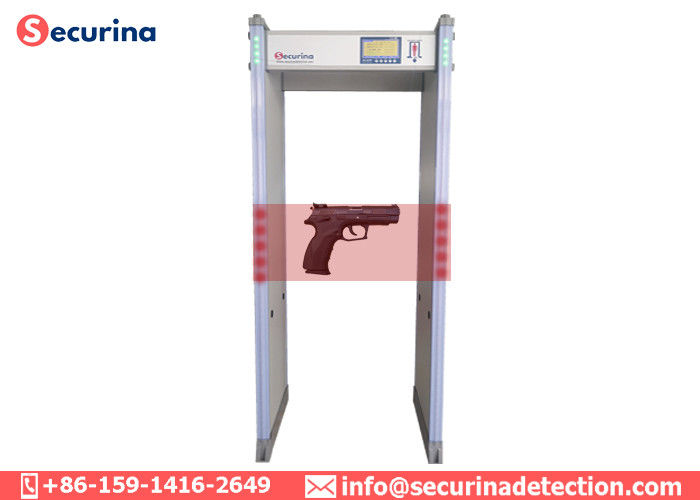 China 0-299 Sensitivity Door Frame Metal Detector Weatherproof With Audible Visual Alarm factory