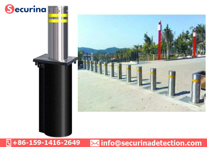219mm Dia. Of Bollards Hydraulic Security Bollards Road Blocking Car Park Barrier