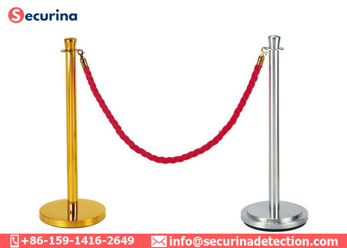 Safety Line Pole Rope Stanchion Cording Off Queue Barrier Ball Top Classical Airport Queuing