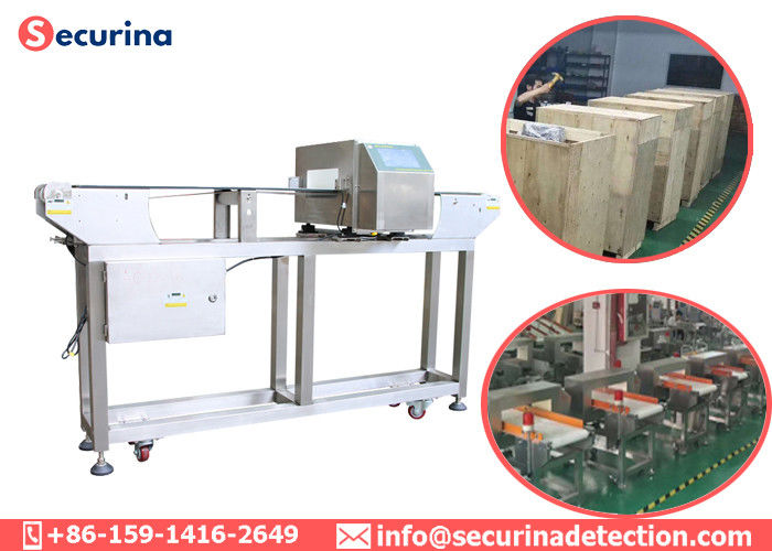 China Food Processing Metal Detectors , Conveyor Belt Metal Detector For Security Inspection factory