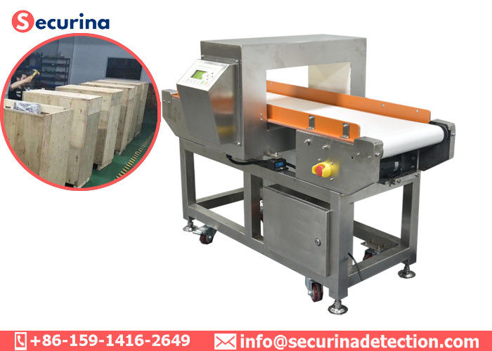China Adjustable Sensitivity Food Processing Metal Detectors , Conveyor Metal Detector Equipment factory