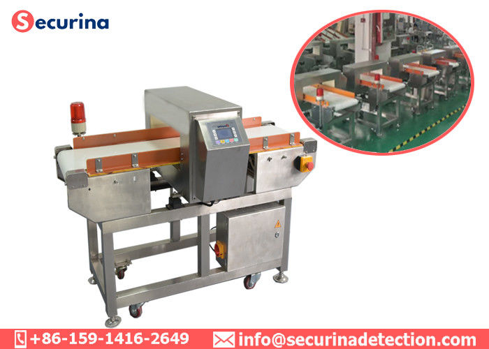 China Auto Industrial Metal Detector Conveyor Sound / Light Alarm Food Processing Inspection factory