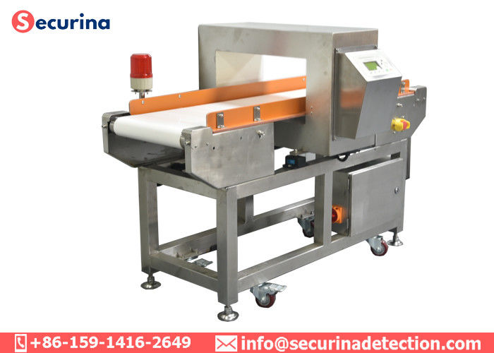 China Food Grade PU Belt Industrial Metal Detector Conveyor 25kgs Load Open Delivery System factory