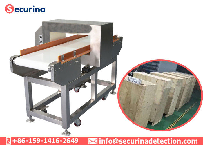 China Foil Package Inspection Belt Conveyor Metal Detector In Food Processing Industries factory