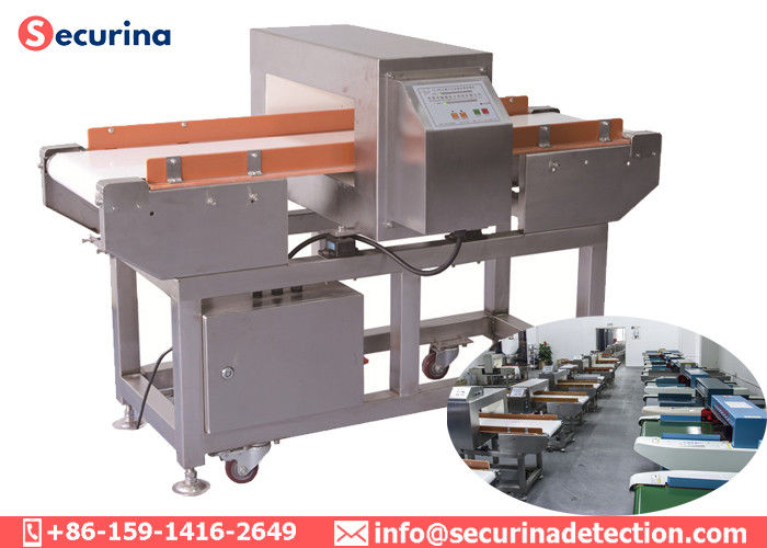 China SS 304 Automatic Metal Detector , Conveyor Belt Metal Detector For Aluminum Foil Package factory