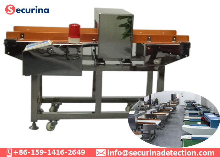 China Stainless Steel 304 Food Grade Metal Detectors Conveyor Belt Return Automatically factory