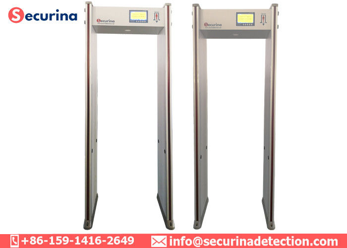 Airport Door Frame Metal Detector Stationary Body Scanner With LED Light Bar Alarming